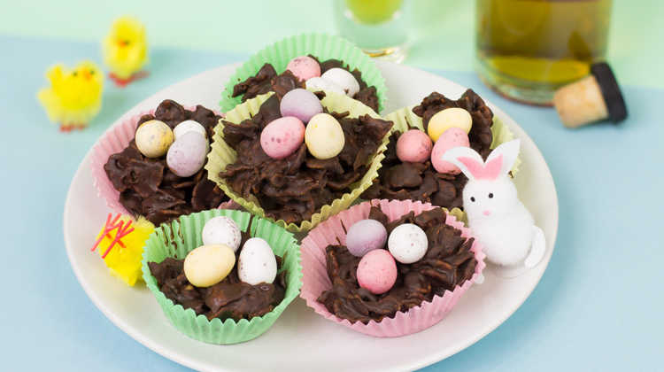 Boozy Easter Nests Recipe