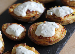 Cheese and Bacon Potato Skins Recipe
