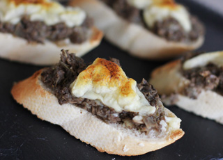 Cheese and Mushroom Bruschetta Recipe
