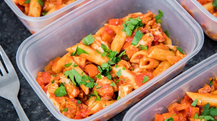 Chicken & Tomato Pasta Meal Prep Recipe